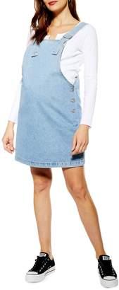 Topshop MATERNITY Denim Pinafore Dress