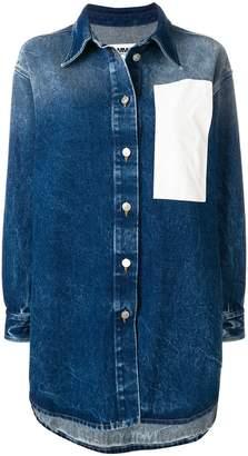 MM6 MAISON MARGIELA white patch denim jacket