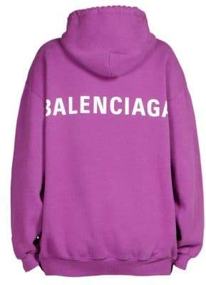 Balenciaga Oversized Logo Back Hoodie
