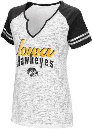 NCAA Women's Campus Heritage Iowa Hawkeyes Notch-Neck Raglan Tee