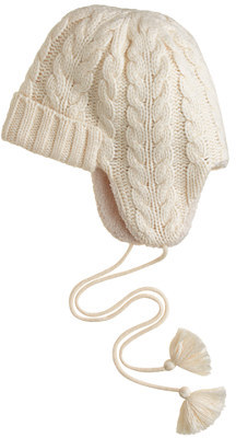 J.Crew Cable-knit trapper hat