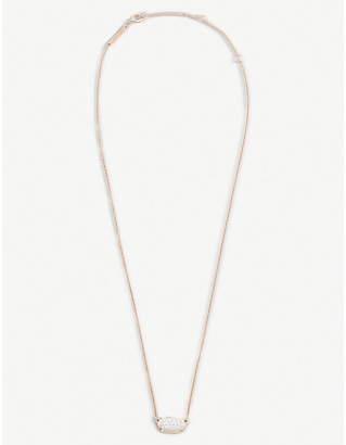 Kendra Scott Lisa 14ct rose gold and diamond necklace