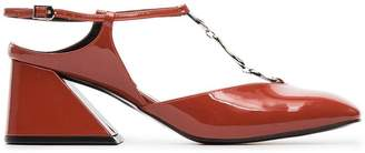 Yuul Yie deep tangerine 60 patent leather pumps