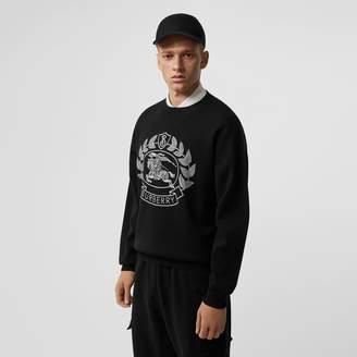 Burberry Crest Merino Wool Blend Jacquard Sweater