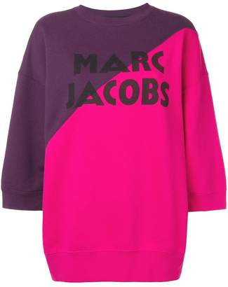 Marc Jacobs logo colour block sweatshirt