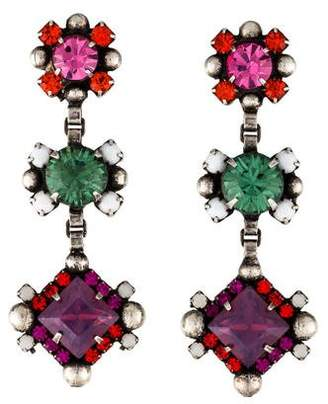 Dannijo Crystal Luana Drop Earrings