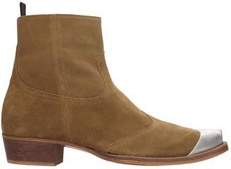 Represent REPRESENT Western Boot High Heels Ankle Boots In Leather Color Suede