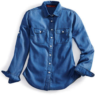Ems Women's Solid Chambray Shirt