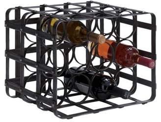 DecMode Decmode 12 X 16 Inch Industrial 12-Bottle Cage Iron Wine Rack
