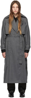 3.1 Phillip Lim Grey Dolman Sleeve Trench Coat