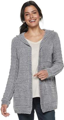 1137b3492a5 Sonoma Goods For Life Women s SONOMA Goods for Life Chenille Hooded Cardigan