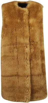MSGM Faux Fur Sleeveless Coat