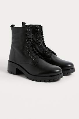 Urban Outfitters Zoe Leather Combat Boot