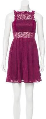 Jay Godfrey Silk Ruffle-Trimmed Dress