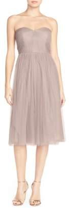 Jenny Yoo Maia Convertible Tulle Tea Length Fit & Flare Dress