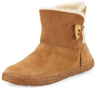 UGG Garnet Shearling Toggle Bootie, Chestnut $130 thestylecure.com