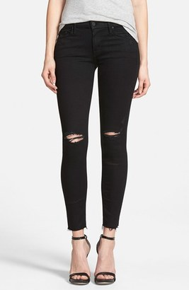 Women's Mother 'The Looker' Frayed Ankle Skinny Jeans $205 thestylecure.com