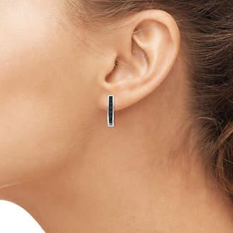 Black Diamond FINE JEWELRY 1 CT. T.W. Color-Enhanced Sterling Silver Hoop Earrings