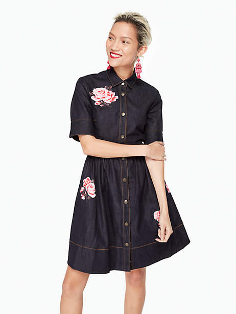 Kate Spade Rose denim shirtdress