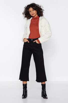 Nasty Gal Short Stop Wide-Leg Jeans