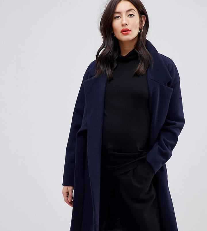 Mama.licious Mamalicious wrap belted coat