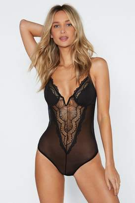 Nasty Gal There She Goes Lace Bodysuit