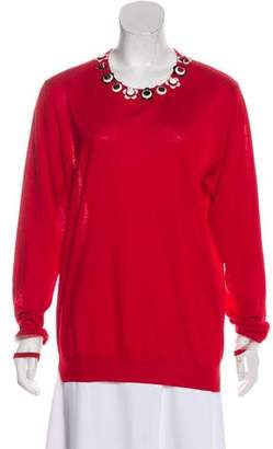 Fendi Embellished Knit Sweater