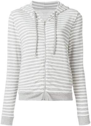 Majestic Filatures striped zip-up hoodie