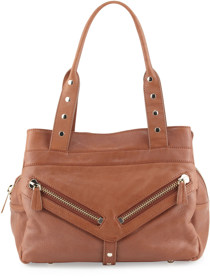 Botkier Trigger Medium Satchel Bag, Brown