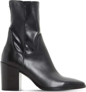 Dune Black Padock heeled sock ankle boots