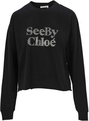 See by Chloe See By Chloe' Tshirt Ml Logo Strass