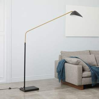 west elm Overarching Curvilinear Mid-Century Floor Lamp - Black