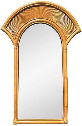One Kings Lane Vintage Vintage Bamboo Framed Mirror - nihil novi