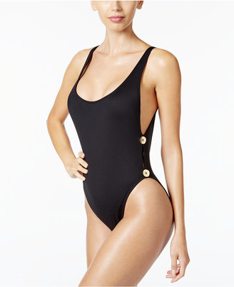 La Blanca Anniversary High-Cut One-Piece Swimsuit $99 thestylecure.com