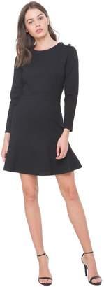 Juicy Couture Ponte Button Shoulder Fit & Flare Dress