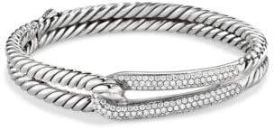 David Yurman Labyrinth® Single-Loop Bracelet With Diamonds, 10Mm