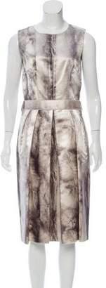 Dolce & Gabbana Silk Fur Print Dress