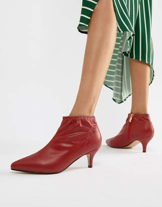 Truffle Collection Kitten Heel Ankle Boots