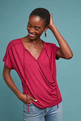 Bordeaux Amelia Wrap Top