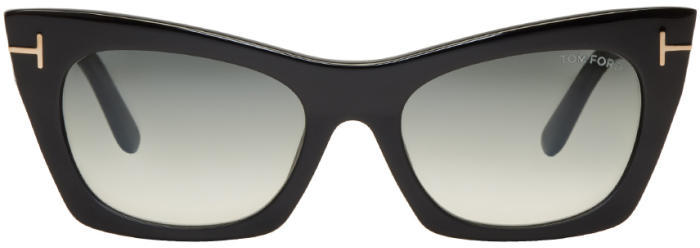 Tom Ford Black Kasia Cat-Eye Sunglasses