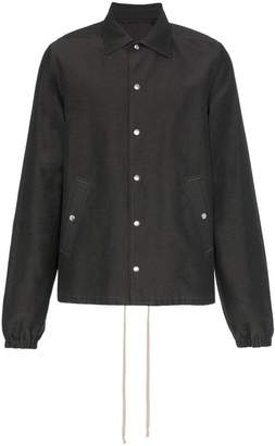 Rick Owens buttoned silk cotton blend jacket
