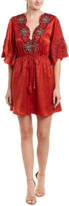 Moon River Embroidered Mini Dress