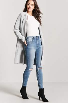 Forever 21 Zippered High-Waist Jeans