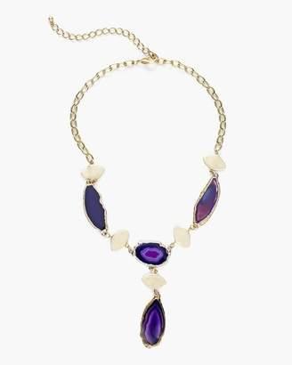 Purple Drama Bib Necklace