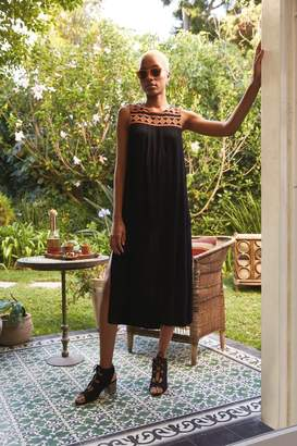 25e6788a3a Fat Face Womens FatFace Black Tresco Embroidered Midi Dress - Black