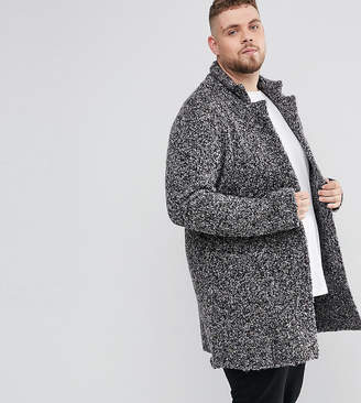 Asos Design PLUS Longline Heavyweight Knitted Duster Cardigan in Charcoal