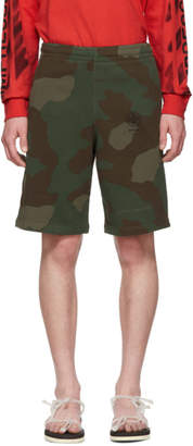 Off-White Off White Green and Brown Camo Stencil Shorts
