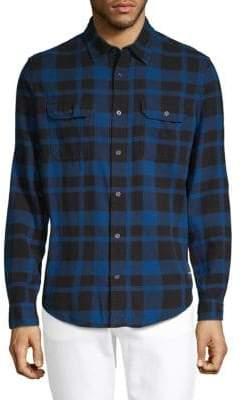 Calvin Klein Jeans Checked Long-Sleeve Button-Down Shirt