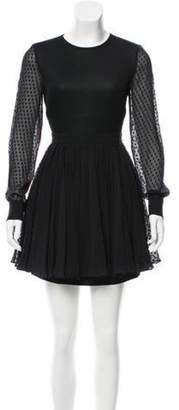 Ungaro Mesh Neoprene Dress w/ Tags Black Mesh Neoprene Dress w/ Tags