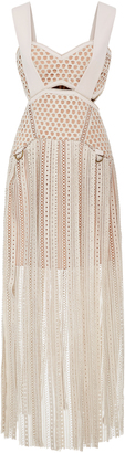 Self Portrait Avery Fringe Cutout Dress $680 thestylecure.com